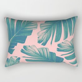 Tropical Blush Banana Leaves Dream #2 #decor #art #society6 Rectangular Pillow