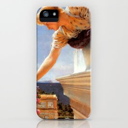"Sir Lawrence Alma-Tadema ""God Speed!"" iPhone Case"
