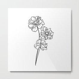 Poppy minimalist Metal Print