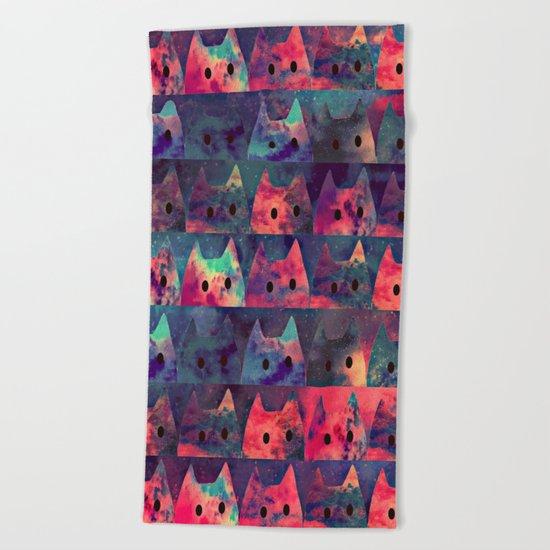 cats-130 Beach Towel