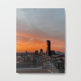 The Hague sunset | The Netherlands | Fine Art Travel Photography | Cityscape Buildings Architecture  Metal Print
