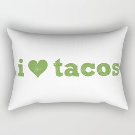 I Love Tacos Rectangular Pillow