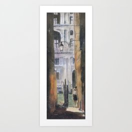 Backstreet in Venice Art Print