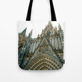 Cathedral of the Holy Cross and Saint Eulalia in Barcelona, Spain Tote Bag