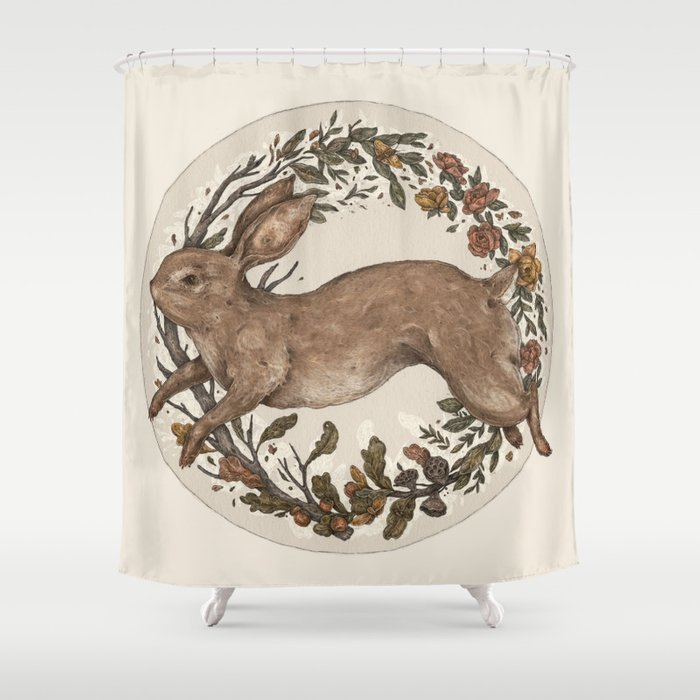 Rabbit Shower Curtain By Jessicaroux