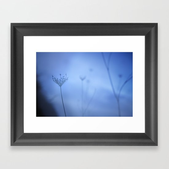 Blue hour in the paradise Framed Art Print