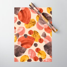 Mid-century Modern Papercut Shapes Wrapping Paper