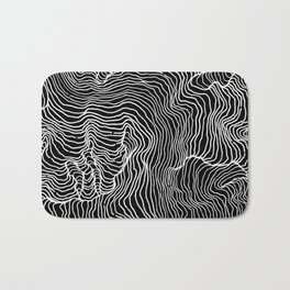 Black Riptide Bath Mat