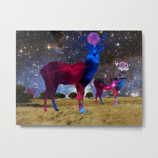 DeerInvasion - Unbelievable Nature Scene 3 Metal Print