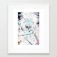 introvert Framed Art Prints featuring Introvert by miguelnarayan