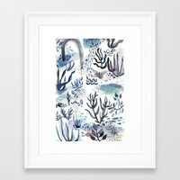 under the sea Framed Art Prints featuring Under the Sea by jenna lechner