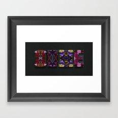 Opulent Floral HOME Framed Art Print