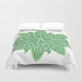 Emerald Flower Duvet Cover