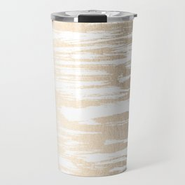 White Gold Sands Paintbrush Travel Mug