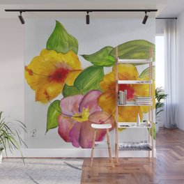 Hibiscus Flowers Wall Mural