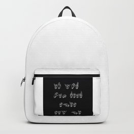 Language finger Backpack
