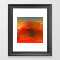 red glass and a lilac reflection Framed Art Print