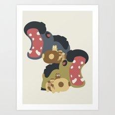 Pocket Monster 449 and 450 Art Print