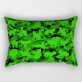 Bright Neon Green Catmouflage Rectangular Pillow