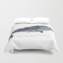 Gray Whale Duvet Cover
