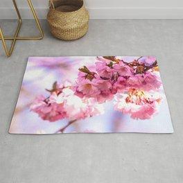 Pink Japanese Cherry Blossom, Sakura Rug