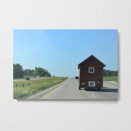 Moving House Metal Print