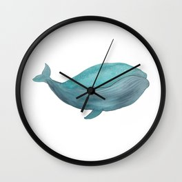 Just a friendly whale Wall Clock