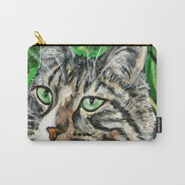 Prince Charmer Tabby Cat Portrait Carry-All Pouch