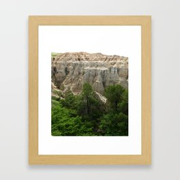 Badlands View From The Rim Road Framed Art Print