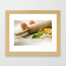Pasta decoration Framed Art Print