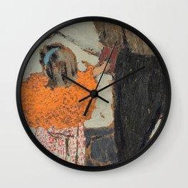 12,000pixel-500dpi - Edouard Vuillard - Child Wearing a Red Scarf - Digital Remastered Edition Wall Clock