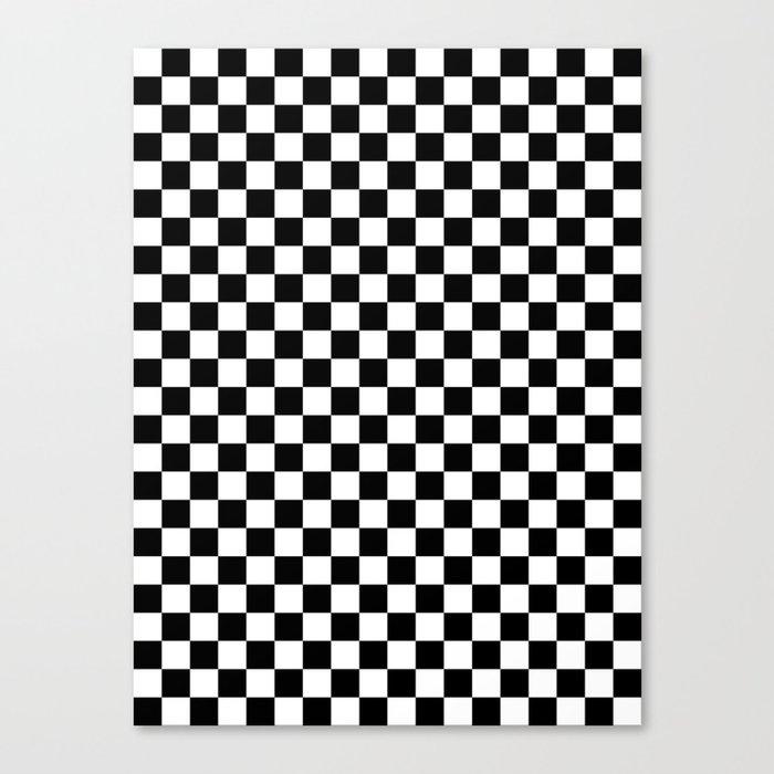 White and Black Checkerboard Leinwanddruck