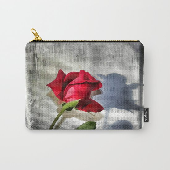 Red Rose Bud Shadow Carry-All Pouch