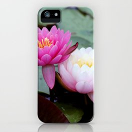 Pink Water Lily Duo #1 iPhone Case