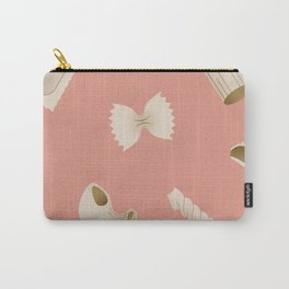 Pasta Pattern - Pink Carry-All Pouch