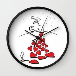 Grifo de Corazones Wall Clock