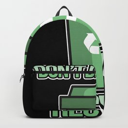 Recylce Earth Day Don't be Trash Backpack
