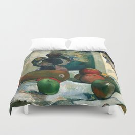 Still Life with Profile of Laval by Paul Gauguin Duvet Cover