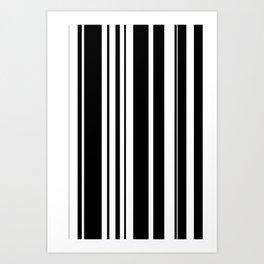 Black and white stripes 2 Art Print