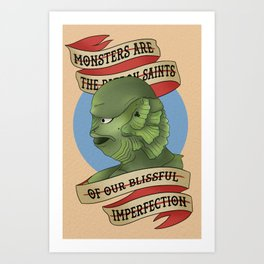 Blissful Imperfection . Creature Art Print