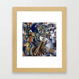 The Knifegrinder Principle of Glittering by Kazimir Malevich (c 1912-13) Framed Art Print