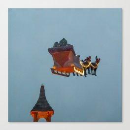 SANTA's reindeer ride Canvas Print