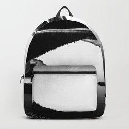 Fantastic Morning - Mount Hood Reflection Black and White Backpack