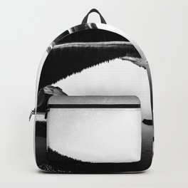 Fantastic Morning - Mount Hood Reflection Black and White Backpack