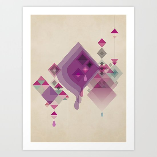 Abstract illustrations Art Print