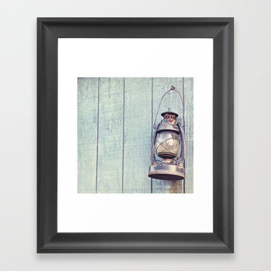 Blue Lantern (Beachy Edition) Framed Art Print