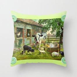 Barnyard Chatter Throw Pillow