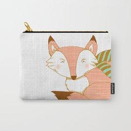 Fashionable Fox - Peach Carry-All Pouch