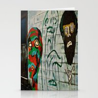 talking heads Stationery Cards featuring heads by Samantha Sager