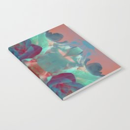 Deep in a Blue Flower Kaleidoscope Notebook
